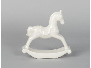 Houpací kůň | bílý | porcelán | 19x20x6cm