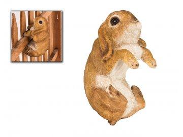 Zajíc | dekorace na oplocení | polyresin | 20x12x11cm