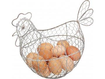 Drátěná slepička na vajíčka