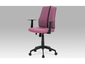 Kancelářská židle, látka bordó, houpací mechanismus, kříž plast černý, plastová kolečka