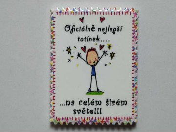 Keramický magnet, dekorace