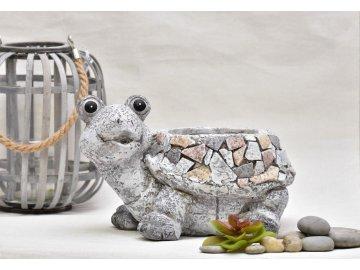 Květináč želva Rita mozaika 19 cm