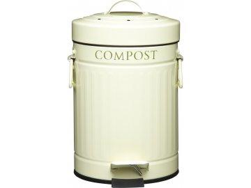Plechový kompostér krémový Kitchen Craft