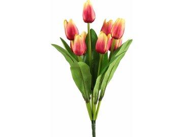 Kytice umělých tulipánů - fuchsiová