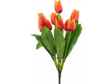 Kytice umělých tulipánů - oranžová