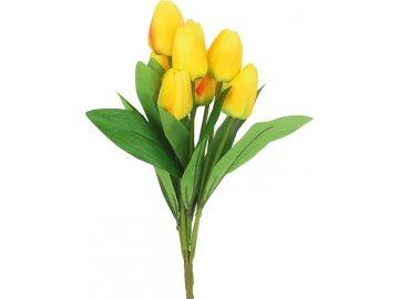 Puget tulipánů, umělá květina, barva žlutá