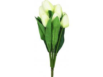 Puget tulipánů, umělá květina, barva krémová