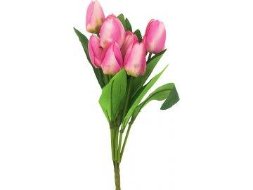 Puget tulipánů, umělá květina, barva lila