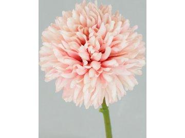 Květ česneku, umělá květina, barva růžová