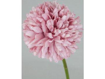Květ česneku, umělá květina, barva tmavě růžová