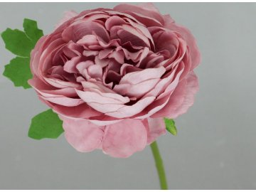 Pivoňka, umělá květina , barva tmavě růžová