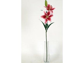 Umělé květiny - lilie 3 květy, barva  fuchsiová