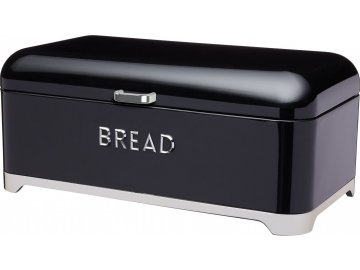 Plechová dóza na chleba Lovello černá
