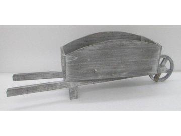 Dřevěný trakař na květiny vozík