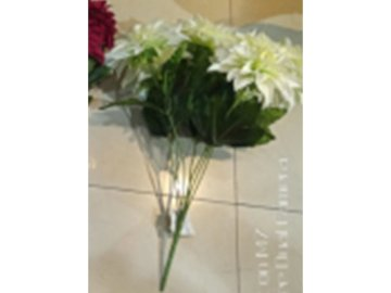 Chryzantéma puget, 7 hlav, umělá květina, barva bílá