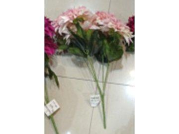 Chryzantéma puget , 7 hlav, umělá květina, barva růžová