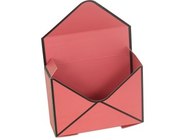 Box papírový, barva hnědo-červená