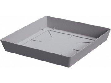 Miska hranatá Lofly Square šedý kámen 16,5x16,5 cm