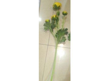 Ranunkulus 5 hlav, umělá květina, barva žlutá