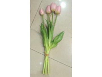 Tulipán puget, umělá květina, barva světle růžová