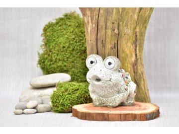 Žába s kamínky a LED očima Zoe