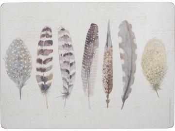 Korkové prostírání Feathers velké