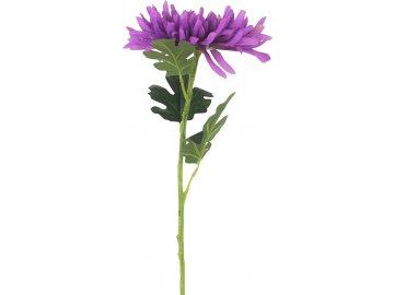 Chryzantéma , umělá květina, barva fialová