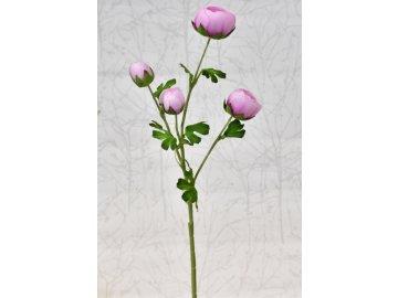 Umělý ranunculus růžový, 68 cm