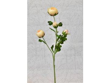 Umělý ranunculus broskvový, 68 cm