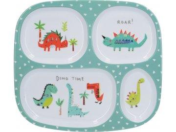 Dětský jídelní tác Hungrysaurus
