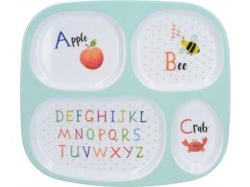 Dětský jídelní tác Alphabet