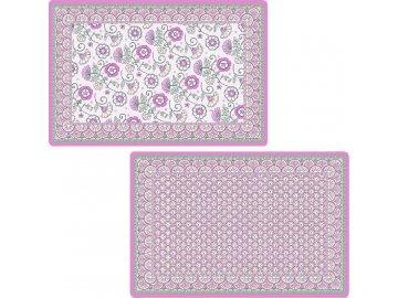 Plastové prostírání Kalamkari růžové