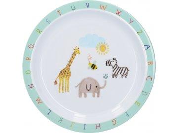 Dětský jídelní talíř Alphabet