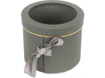 Box papírový, barva šedá