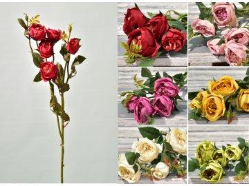 Umělá růže 69 cm, mix barev