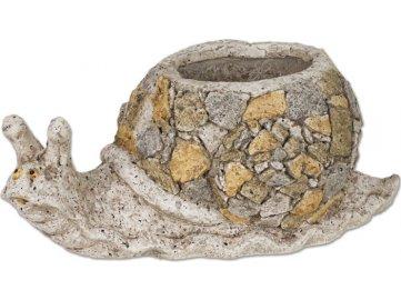 Šnek , MgO keramika s otvorem na květináč, dekorace