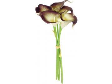 Kala, 5 kusů ve svazku, barva bílo-šedá. Květina umělá.