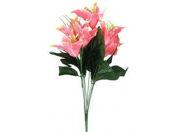 Lilie puget, barva růžová. Květina umělá.
