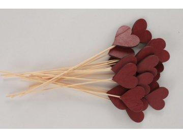 Dřevěné srdce, cena za 20ks/ 1 balení
