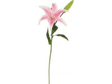 Lilie, barva bílo- růžová. Květina umělá.