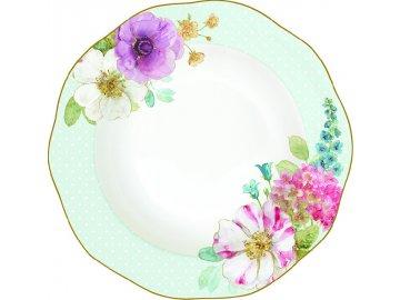 Porcelánový polévkový talíř Cottage Flower
