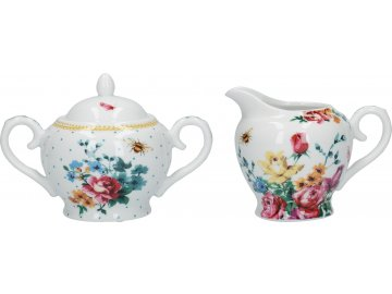 Porcelánová cukřenka a mléčenka Bohemian Spirit