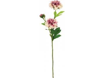 Jiřinka,  odstíny staro-růžové barvy. Květina umělá.
