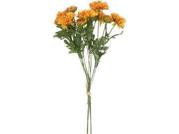 Gerbery, puget, barva oranžová. Květina umělá.