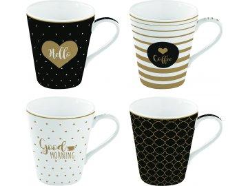 Porcelánové hrnky na kávu Good Morning