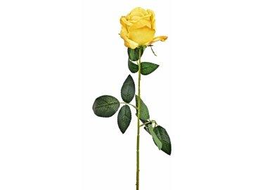 Umělá růže 70 cm žlutá