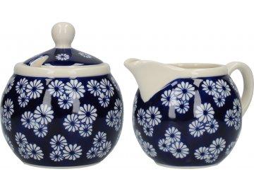 Keramická cukřenka a mléčenka London Pottery