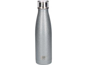 Láhev na vodu Built stříbrná se třpytkami