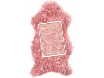 Umělá kožešina růžová 50x90 cm