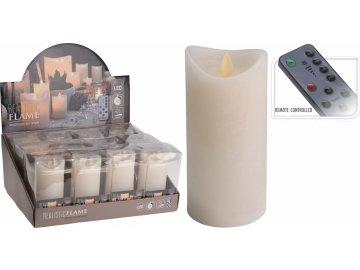 LED svíčka 15 cm s ovladačem